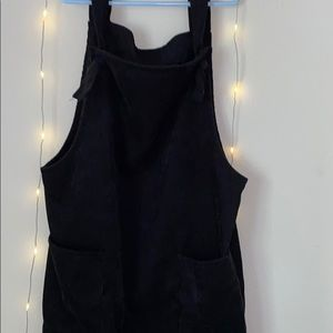 pacsun black corduroy overall dress